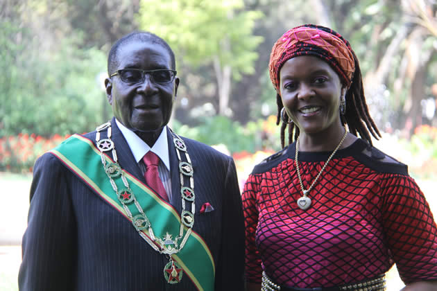 President Mugabe and First lady Grace Mugabe