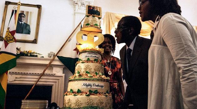Mugabe birthday cake 92_