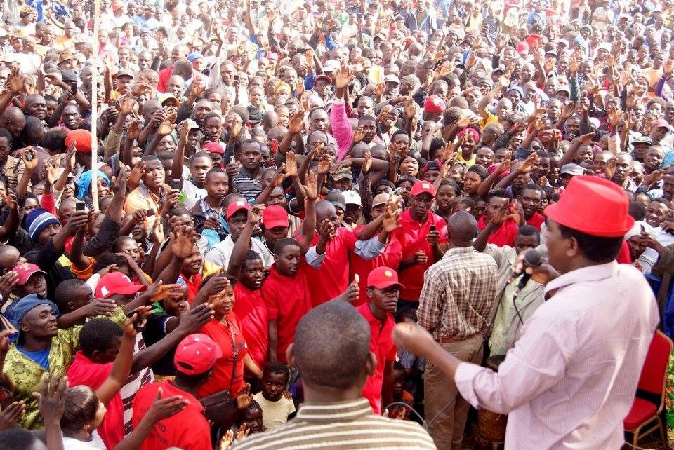 Campaign rally by the main opposition party, the United Party for National Development (UPND)