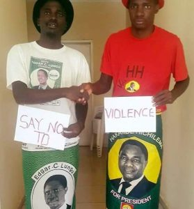 Party cadres from the two rival party join calls for peaceful campaigns ahead of the August 11 elections.