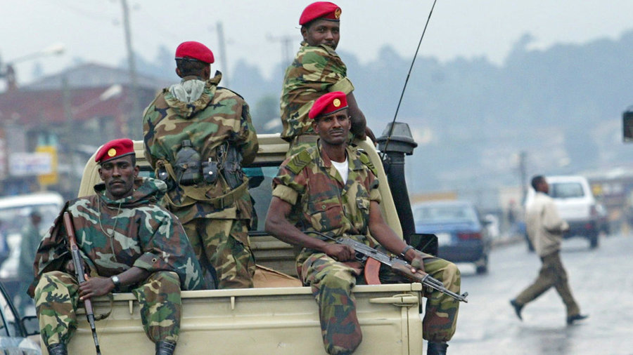 Members of the Ethiopia army patrol the streets of Addis Abab (2005) - Photo, npr.org