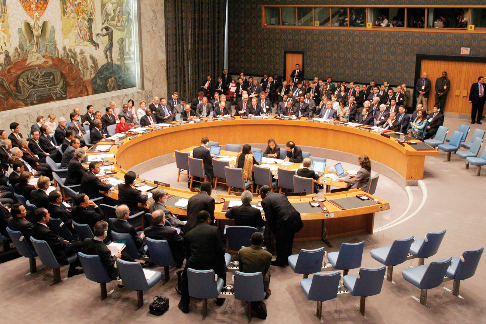 UN Security Council in session. (Photo, centerforunreform.org)