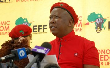 Julius Malema leader of South Africa's EFF Party