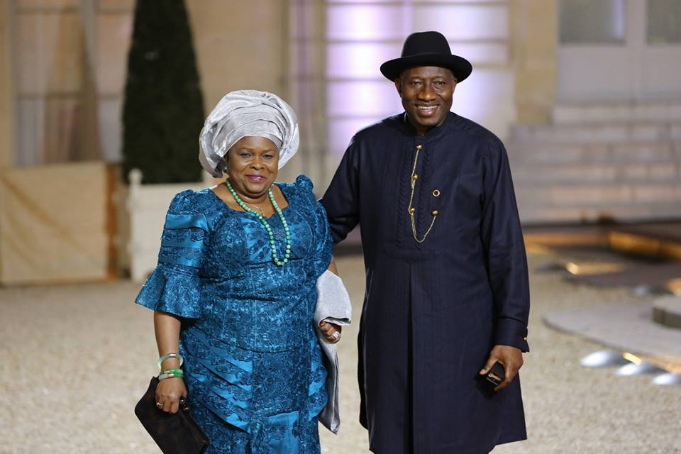 Former President Goodluck Jonathan with wife Patience (Photo, Premium Times Nigeria)